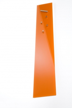 FLUX-Glasboard, Glas-Magnet-Pinnwand (in 90 x 12 cm) Orange