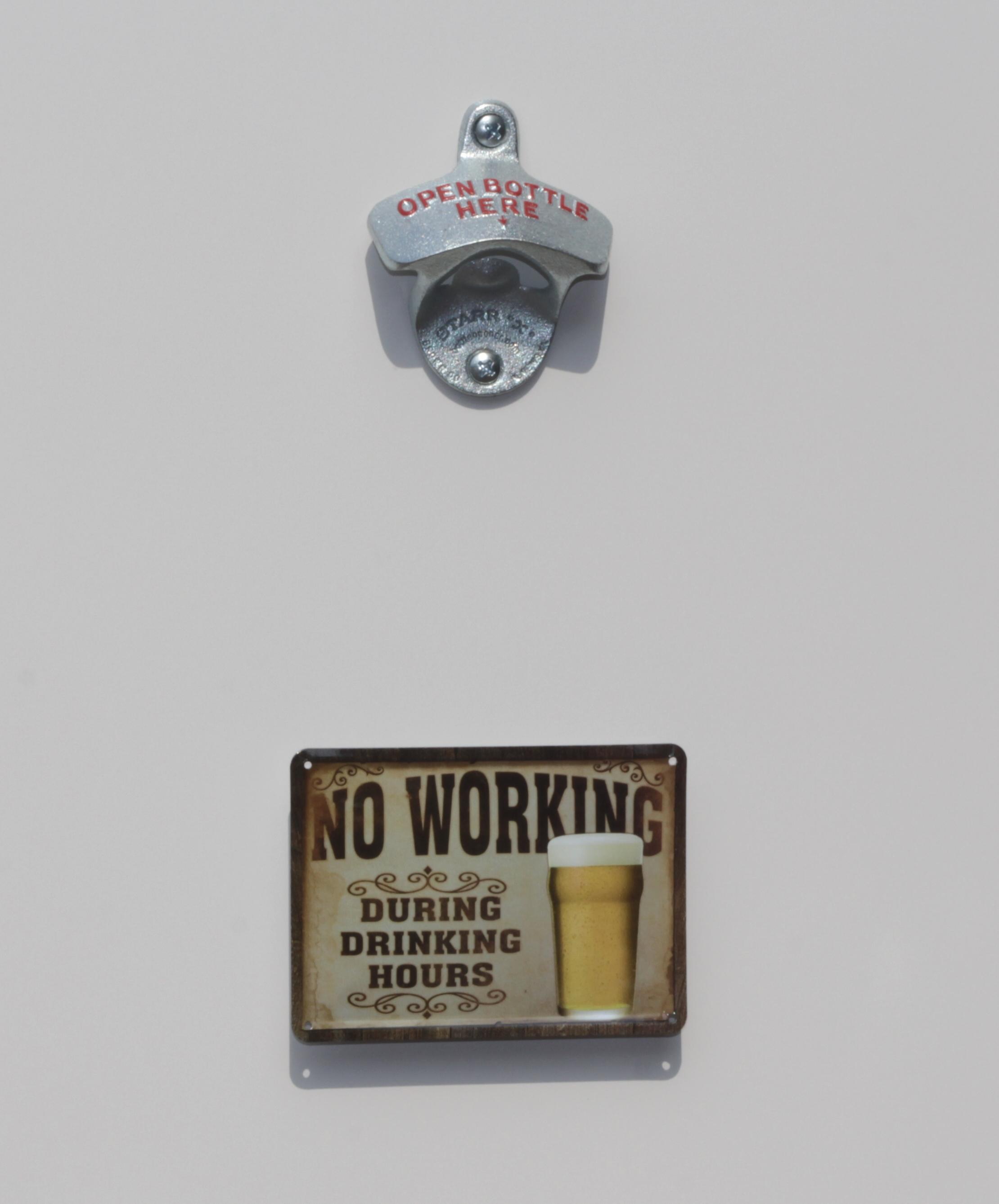 wand-flaschenöffner / flaschen-Öffner mit fangmagnet / magnet