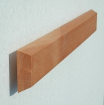 FLUX-Panel, (in 4 x 32 cm) Holz massiv Birne